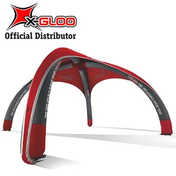 X-Gloo Logo 4x4 Mainosteltta