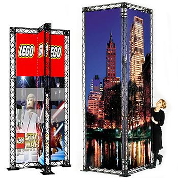 Paket: Reklamtorn, fyrkant 60x200