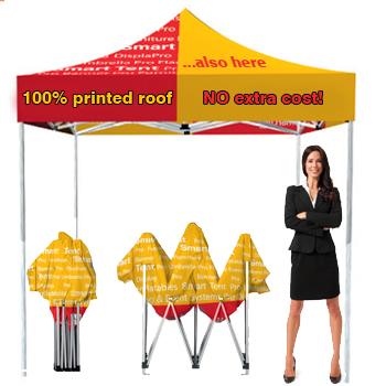 PRO 3x3 Pop teltta + 4-väripainettu katto