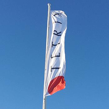 Logoflagga Stående B:66 x H:200 cm