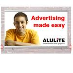 Firmaskylt AluLite Rails (B94xH150)