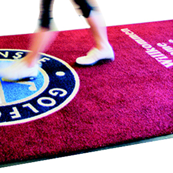 TETRIX offers logomats in all forms for advertising on the floors. Make your interior stand out with TETRIX mats