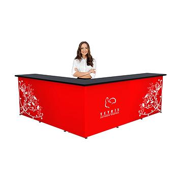 Mässbord, podium och mässdisk med tryck; Pris och modeller
