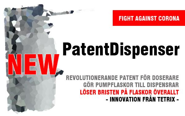 PatentDispenser gör slut på flaskdjungeln. En dispenser som fungerar med vilken pumpflaska som helst.