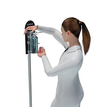 Jalallinen PatentDispenser on annostelija joka toimii kaikilla pumppu-pulloilla