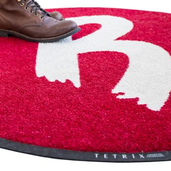 Logomatta mässmatta tryckt matta som reklammatta eller entre. Pris, storlek och modell.