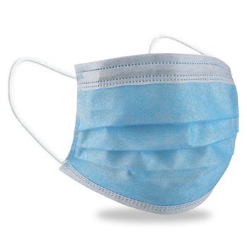 Edullinen hengityssuojain kolmikerroksinen maski