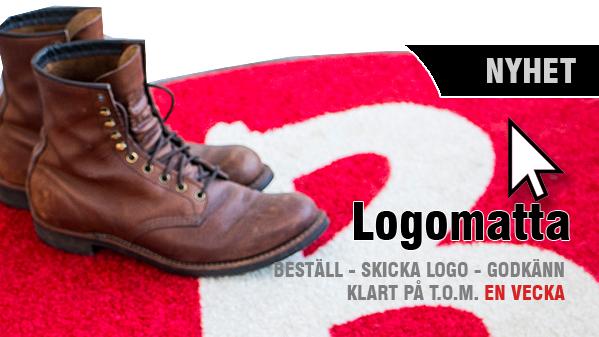 Logoatta reklammatta tryckt matta till bra pris