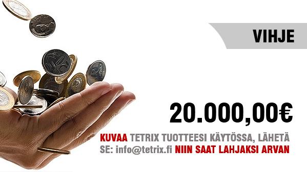 Kuvaa ja lähetä meille kuvasi TETRIX tuotteesta niin voit voittaa 20.000 EUROa