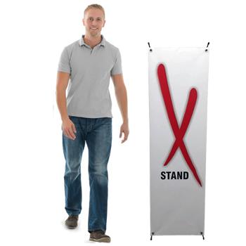 Billiga X-Stand för enkel och effektiv reklam i lågprisklass