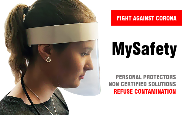 Personal protection gear against virus infections and spreading of aerosols