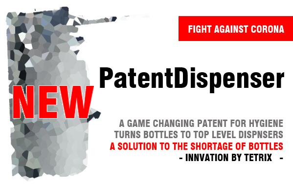 PatentDispenser solves the bottle shortage on the market