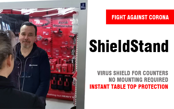 Virus shields for counters and hospitals. Acrylic frames and incubators.