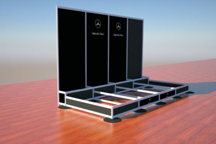 Teemme ilmaiseksi 3D suunnittelun sinun messuständi tai mainosteline ideasta.