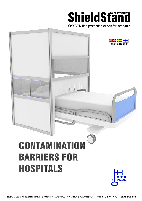 ShieldStand virus protection barrier for hospital